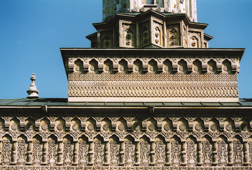 Detail of the church exterior.